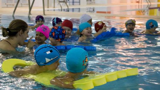 Primera clase de natación